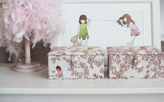 GainStory  Haru Hana Fabrick Jewelry Box by Heyci by HeyCi on Etsy