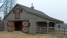 A sample of the quality barns manufactured and delivered by Groffdale Barns - Lancaster County, PA. Horse Barn Plans, Horse Barns, My Horse, Horse Stables, Horse Tips, Horses, Goat Barn, Farm Barn, Small Barns