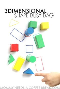 3D shape identification busy bag for Kindergarten