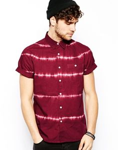 ASOS Shirt In Short Sleeve With Tie Dye