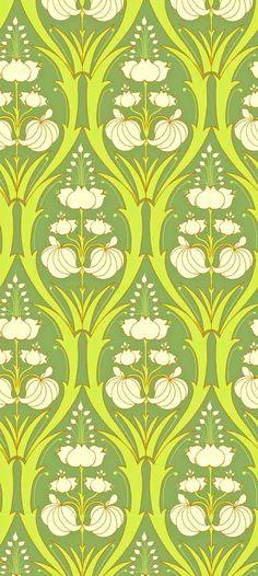 Green Pattern, Pattern Art, Pattern Design, Textile Patterns, Color Patterns, Print Patterns, Fabric Wallpaper, Pattern Wallpaper, Retro Wallpaper