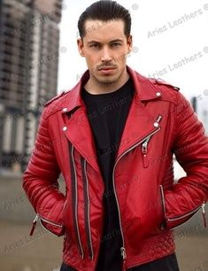 Original Leather Jacket Mens Real Lambskin Slim fit Biker winter special CT 58 Bike's For You 🚲 Classic Leather Jacket, Lambskin Leather Jacket, Leather Men, Leather Jackets, Red Leather, Men Closet, Stylish Mens Outfits, Leather Fashion, Men Fashion