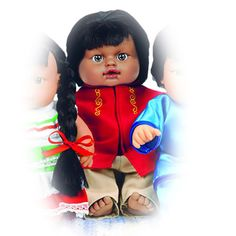 Indian Boy Doll - Children increase cultural awareness as they play with multi-ethnic dolls from around the world! This Indian Boy doll comes dressed in a traditional outfit with rich, authentic details that bring dramatic play to life.
