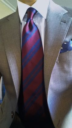Love this tie Loro Piana Tasmanian Super 150's grey birdeyes Drakes tie and pocket square