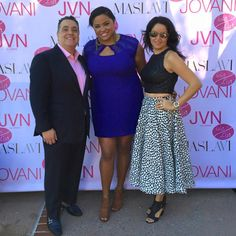 Event Glam with Abraham from Jovani Fashions & His Wife Holly After Doing Hair & Makeup for the Fashion Show @LizEverettGlam