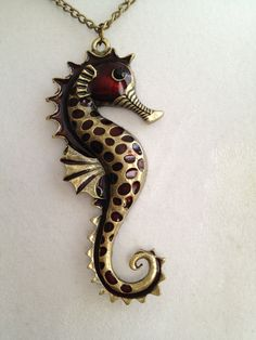 Seahorse Pendant Necklace. $30.00, via Etsy.