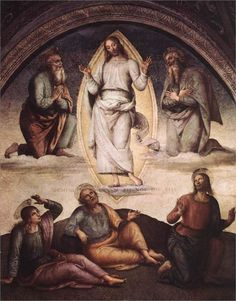 The Transfiguration - Pietro Perugino Completion Date: 1498 Style: High Renaissance Christian Paintings, Christian Artwork, Jan Van Eyck, Hieronymus Bosch, Claude Monet, The Transfiguration, Religious Paintings, Art Database, Italian Renaissance
