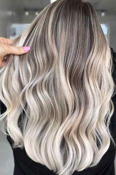 80+ Platinum Blonde Hair Color Ideas Trending In 2021 | LoveHairStyles Dark Roots Blonde Hair, Blonde Hair Shades, Blonde Color, Ashy Blonde Balayage, Platinum Blonde Highlights, Low Lights Hair, Light Hair, Platinum Silver Hair Color, Hair Color Techniques
