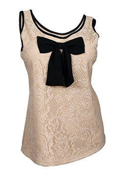 b8cf95dfa0890 eVogues Plus size Floral Lace Sleeveless Blouse With Bow Detail Taupe  Animal Print - 1X at Amazon Women s Clothing store