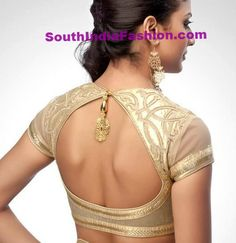 Saree Blouse Back Neck Designs ~ Celebrity Sarees, Designer Sarees, Bridal Sarees, Latest Blouse Designs 2014