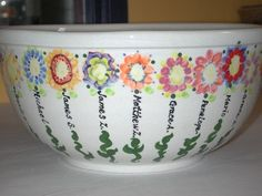 ... - flower bowl | SSA Classroom Projects/10th Anniv Auction | Pi