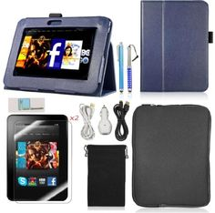 """I just blogged at The Best Birthday Gifts - For sale Llamamia Kindle Fire Hd 7"""" Accessories Bundle - Leather Case Cover + Car Charger + 2 Cables(6 Ft) + Velvet Bag + Zipper Sleeve Pouch Bag + 2 Screen Protectors + 2 Stylus Pens (Dark Blue)  Big Discount #BestBirthdayGiftForDad, #BirthdayGiftForBrother, #BirthdayGiftForDad, #BirthdayGiftForHim, #BirthdayGiftForMen, #BirthdayGiftForMom, #BirthdayGiftForWife, #BirthdayGiftIdeas, #Covers, #GiftForDad, #GiftForGrandpa, #GiftForPa"""