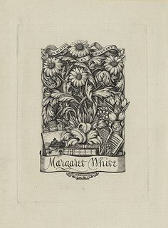 Bookplate of Margaret White
