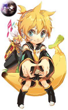 Len Kagamine Chibi   Render Vocaloid - Renders Vocaloid Chibi Rin Len Kagamine blond jaune ...