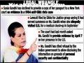 Latest News : Sonia Gandhi declines to provide passport copy to U.S. court