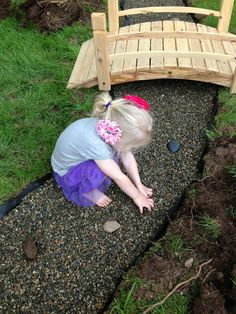 Zen pebble bed at Natural Learning Community Children's School ≈≈
