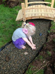 Zen pebble bed at Natural Learning Community Children's School ≈≈