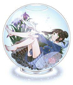 anime girl in glass - Recherche Google