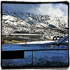 Queenstown Airport...where the snow dumped at its hardest.