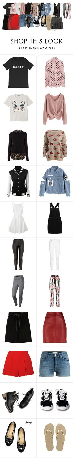 """""""hhjh"""" by gasv1 ❤ liked on Polyvore featuring Paul & Joe, AG Adriano Goldschmied, NIKE, Dolce&Gabbana, Sandro, Alice + Olivia and Havaianas"""