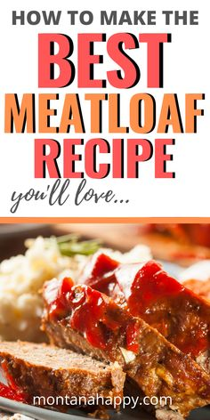 This is a CRAZY good recipe. Hands down it will be the BEST meatloaf recipe you'll ever have. I know that for sure. The topping is a brown sugar ketchup glaze that's out of this world. Not only is this meatloaf recipe delicious, but it's easy to make as well. This is a recipe that you will hand down through the generations. If you're looking for the perfect dinner recipe with beef - this is it! #meatloaf #meatloafrecipe
