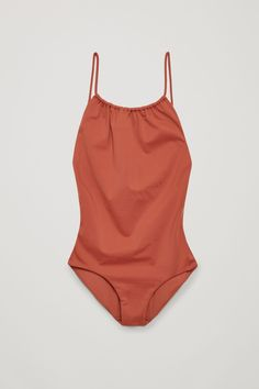 COS Swimsuit with tie back in Terracotta