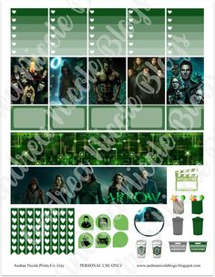 Andrea Nicole: FREE Printable ARROW TV Show Planner Stickers