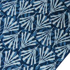 Sold by yard Indigo blue Hand Block Print Cotton Fabric Dress making Batik 15