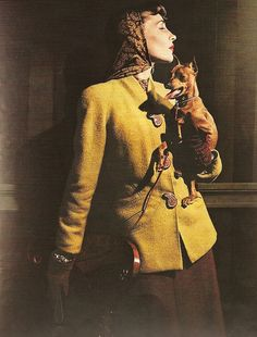 Golden yellow coat, 1940s