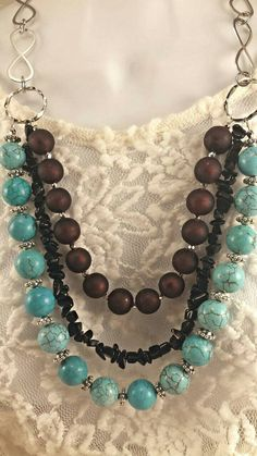 Check out this item in my Etsy shop https://www.etsy.com/listing/218262712/multiple-strand-long-turquoise-necklace