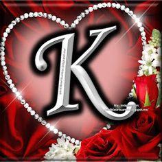 K Letter Images, Alphabet Images, Alphabet Letters Design, Fancy Letters, Monogram Alphabet, Love Letters Image, Picture Letters, S Love Images, Love Poetry Images