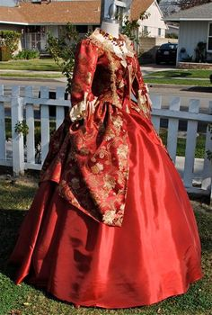 New Style Marie Antoinette Gown Shorter Sleeves by RomanticThreads, $750.00
