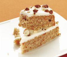 Gluteeniton porkkanakakku Krispie Treats, Rice Krispies, Vanilla Cake, Desserts, Food, Tailgate Desserts, Deserts, Essen, Postres