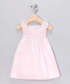 Pink Crochet Dress - Infant by Blow-Out on today! Little Girl Dresses, Girls Dresses, Summer Dresses, Crochet Baby, Kids Outfits, Crochet Patterns, Cold Shoulder Dress, Daughter, Feminine