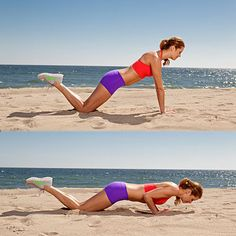 Intensify your average push-up by placing hands into a diamond and get jiggle-free triceps. #arms #workout | Health.com
