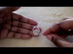 Rivoli Drop Earrings Tutorial: Part 2, Adding the herringbone arms - YouTube