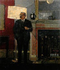 Sir Robin Darwin (1910–1974)  by Ruskin Spear  Royal College of Art        Date painted: 1961      Oil on board, 130.4 x 111.2 cm      Collection: Royal College of Art