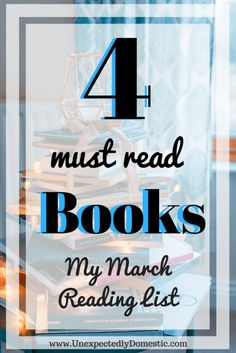 Great books to read! Including 2 of the best psychological thriller books. If you need suggestions for books to read, check out my March reading list.