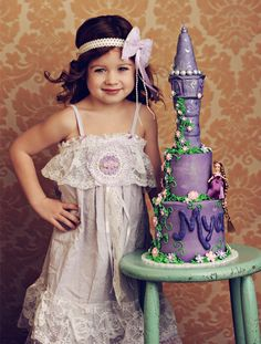 Tangled Birthday Cakes for Girls