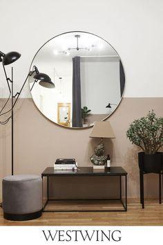 Oversized Mirror, Elle Decor, Interior Design, Furniture, House, Trendy Tree, Retro Design, Industrial Style, Minimalist