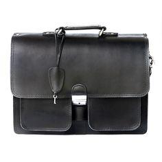 In Schwarz ist Hamosons klassische Aktentasche aus Rinds-Leder, Modell 651, ein echtes Schmuckstück. 159,00 €