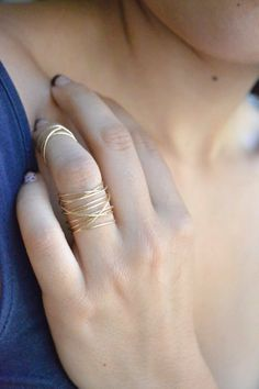 Wrapped wire Ring by amarilo on Etsy, $90.00