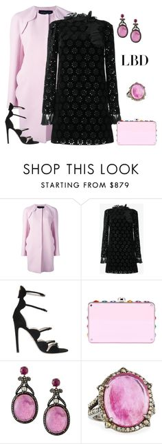 """outfit 5214"" by natalyag ❤ liked on Polyvore featuring Giambattista Valli, Miu Miu and Bavna"