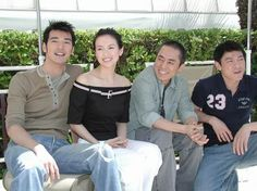 House of Flying Daggers cast with director Zhang Yimou