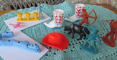 Vintage 1960's  Cake/ Cupcake Toppers by recycledrita on Etsy, $8.95