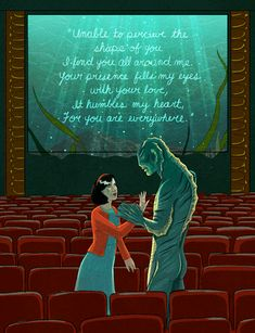 An ode to love… The Shape of Water is now playing in theaters NATIONWIDE! Artwork by Lily Padula