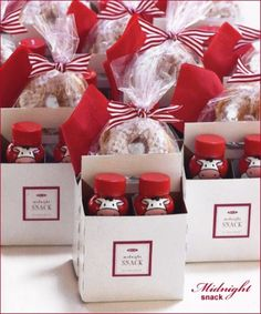 """""""midnight snack"""" - love this! such a cute idea for favors. maybe with to-go cups for hot chocolate instead of milk"""
