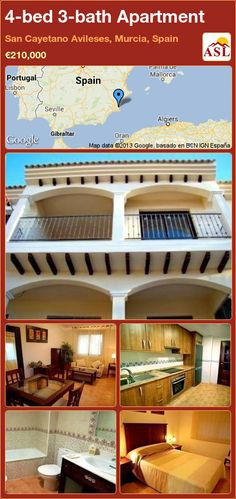 4-bed 3-bath Apartment in San Cayetano Avileses, Murcia, Spain ►€210,000 #PropertyForSaleInSpain