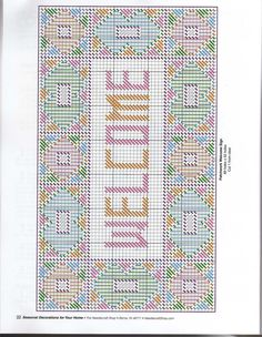 Patchwork Welcome Sign Pg 3/3