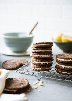 Gluten-Free Gingersnaps with Lemon Cream Filling